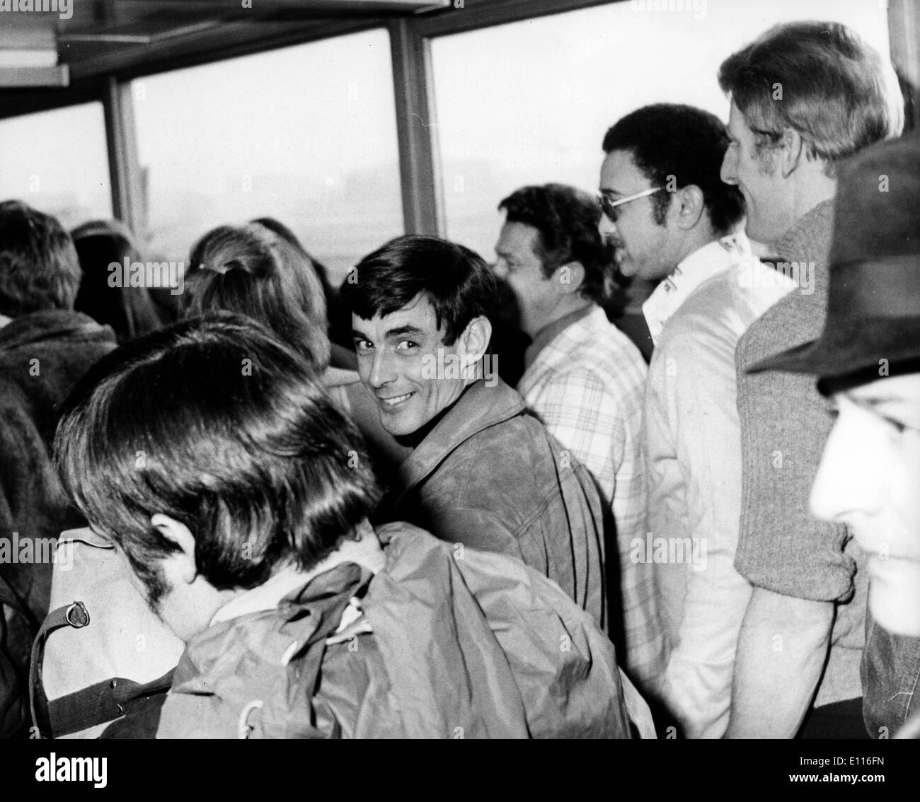 Jan 28, 1976; London, UK; A party of British mercenaries flew out from London's Heathrow airport today bound - Stock Image