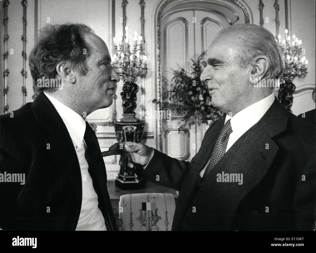 May 05, 1977 - Ministerial meeting of the North Atlantic Treaty Organisation London 10/11 May 1977: This photo is - Stock Image