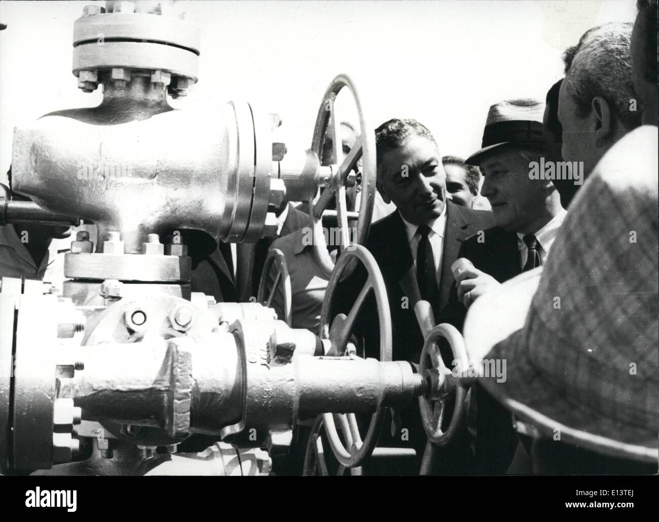 Mar. 27, 2012 - The Alamein Oilfield was inaugurated by Dr. Aziz Sedky, Minister of Industry and Petroleum, representing - Stock Image