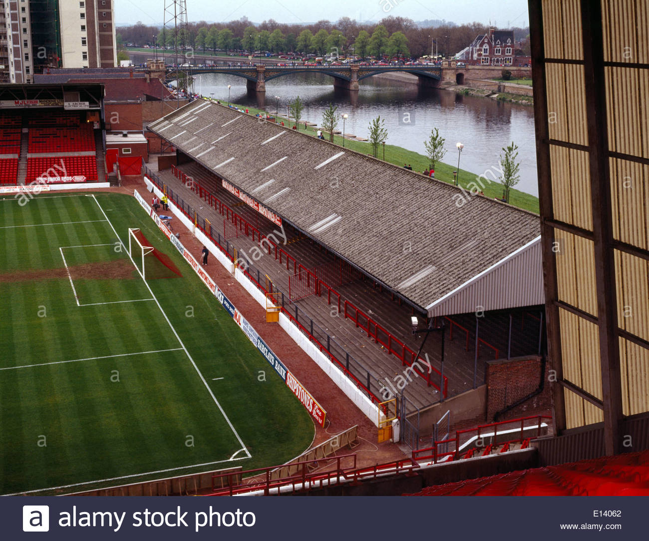 City Ground Before Refurbishment To All Seater Status,with Terrace U0026  Stanchions At The River End.Nottingham Forest Football Club