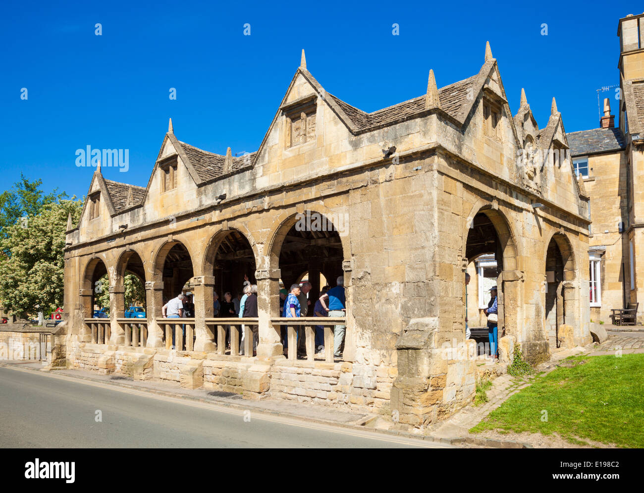 Chipping Campden Market Hall built 1646 High Street Chipping Campden The Cotswolds Gloucestershire England UK EU - Stock Image