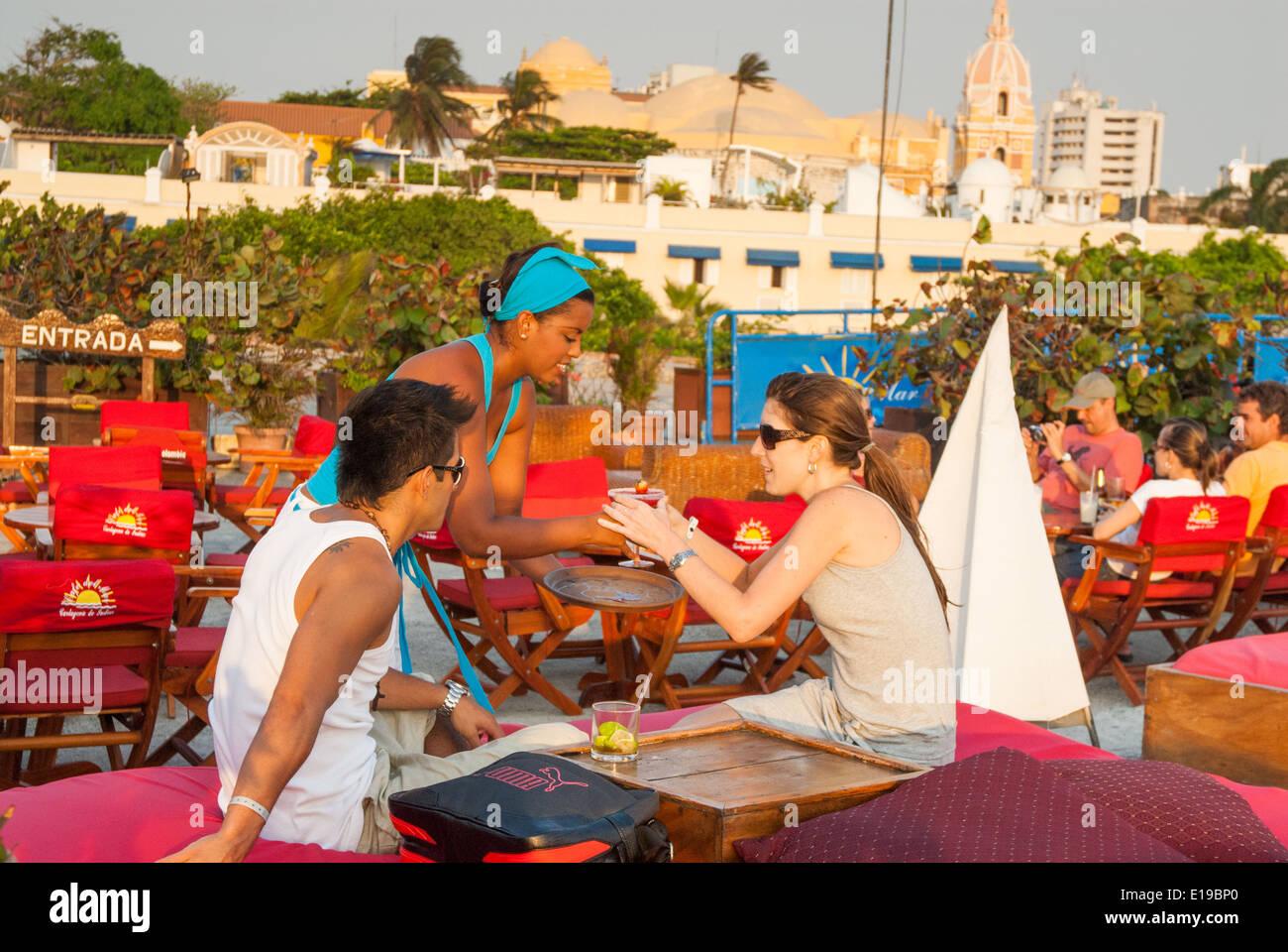 Cafe del Mar, Cartagena de Indias, Colombia - Stock Image
