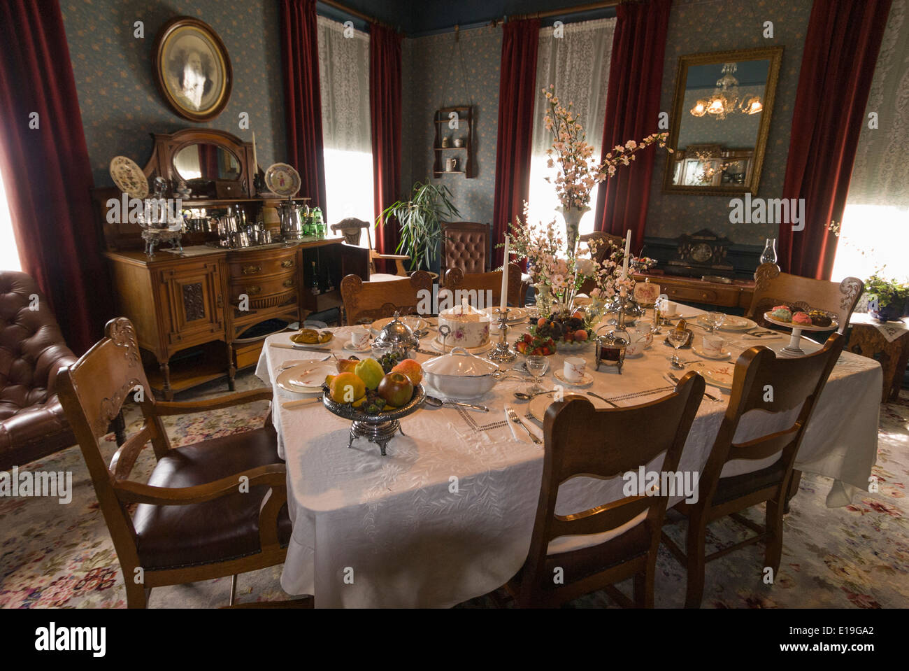 Elk203 1038 Canada, British Columbia, New Westminster, Irving House, 1865,  Dining Room