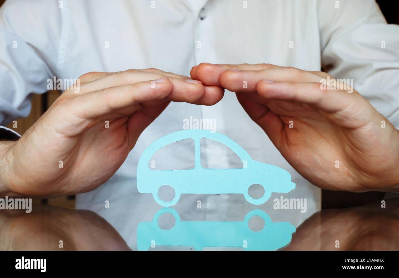 car insurance concept - Stock Image