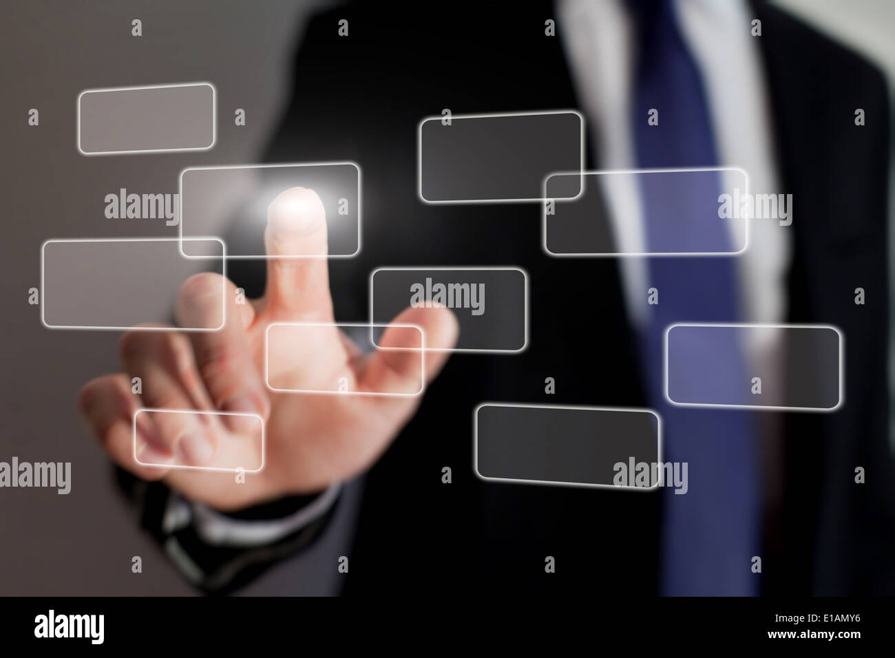 touch screen interface technology - Stock Image