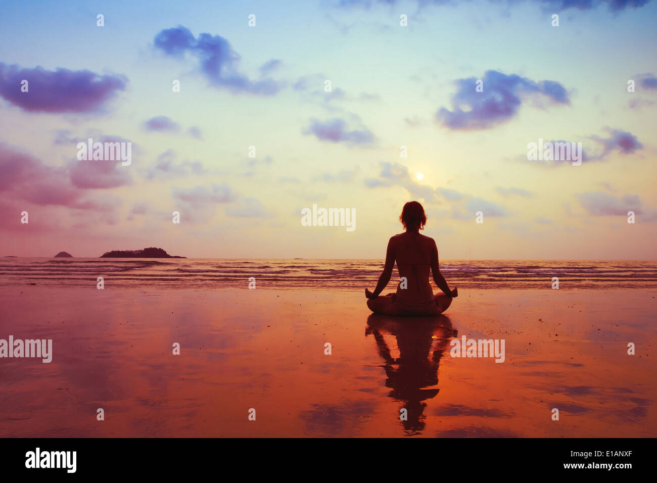 healthy lifestyle concept, body, mind and spirit - Stock Image