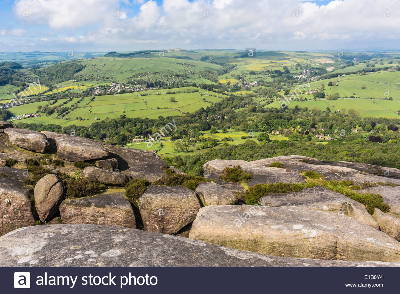 Taken on a walk from Curbar Edge to Froggatt Edge in the Debyshire Dales, - Stock Image