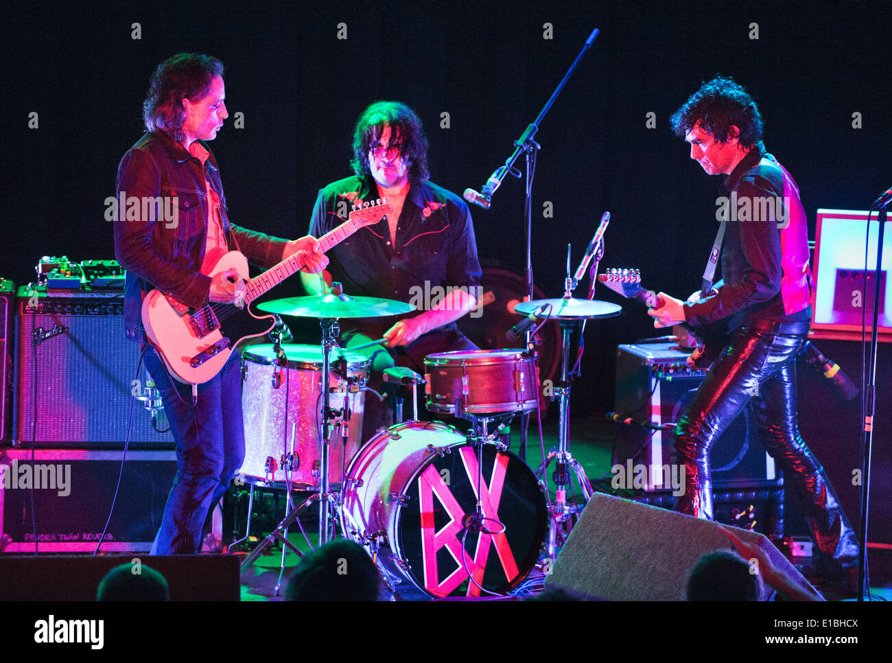 The Jon Spencer Blues Explosion, The Rescue Rooms, Nottingham, UK, 16 May 2014. Jon Spencer (right), with Judah - Stock Image