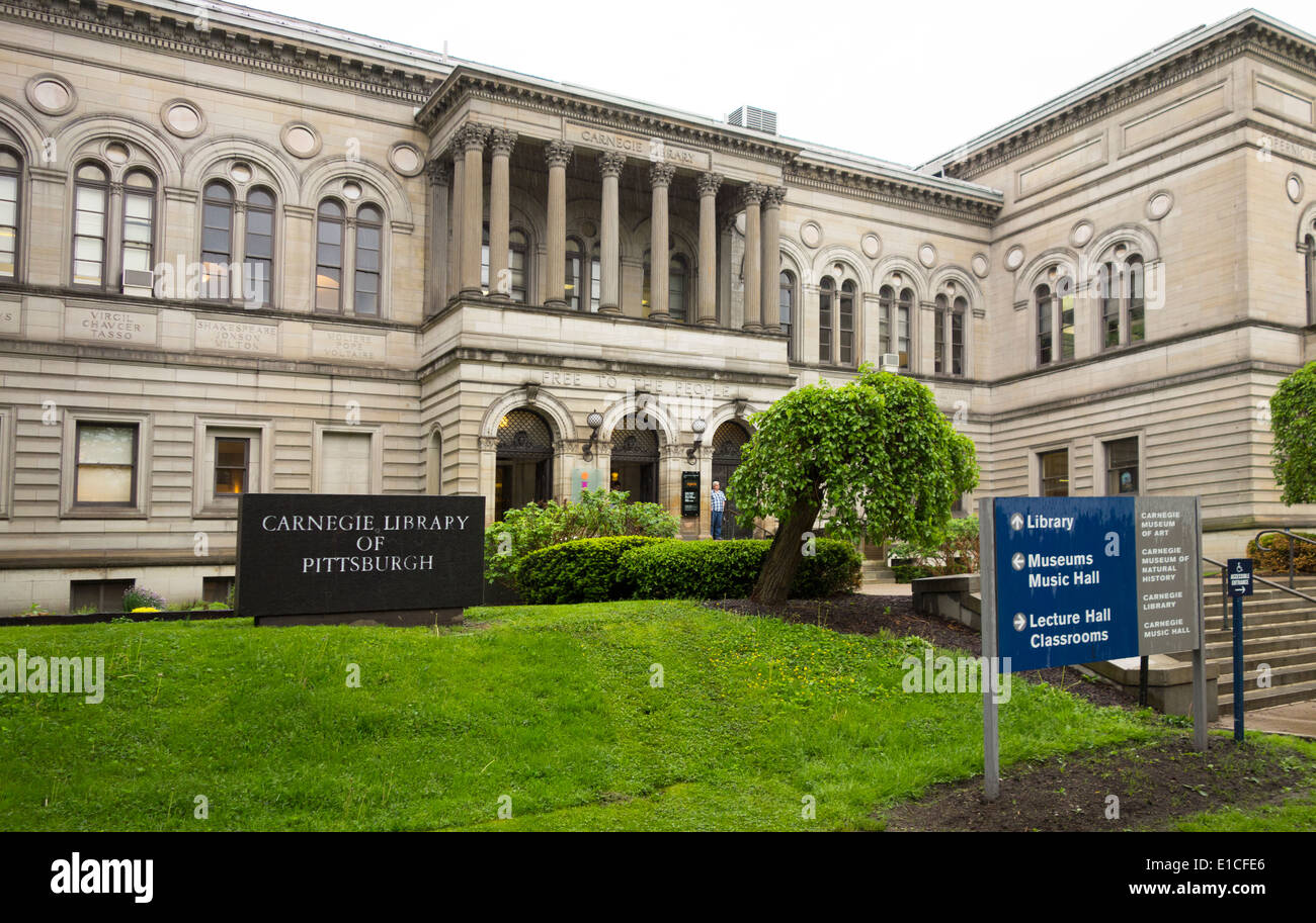 Carnegie library in Pittsburgh PA Stock Photo