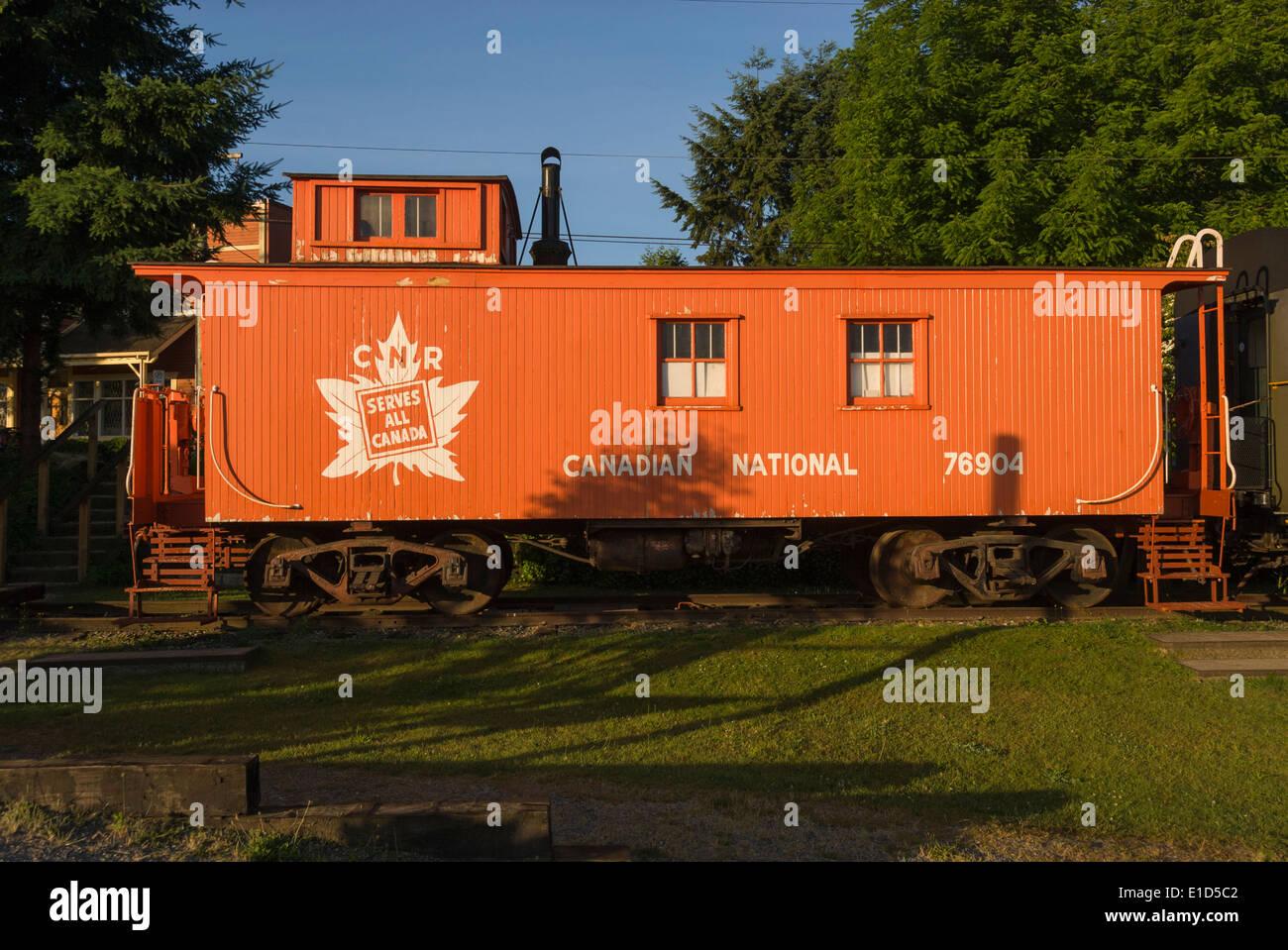 Elk203-1343 Canada, British Columbia, Fort Langley, train station - Stock Image