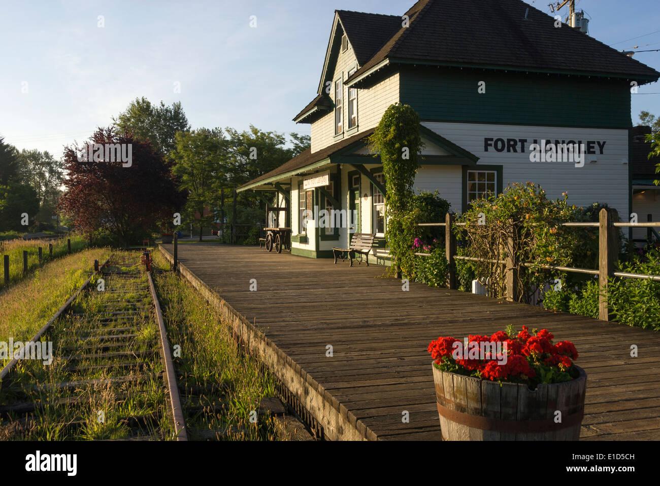 Elk203-1347 Canada, British Columbia, Fort Langley, train station - Stock Image