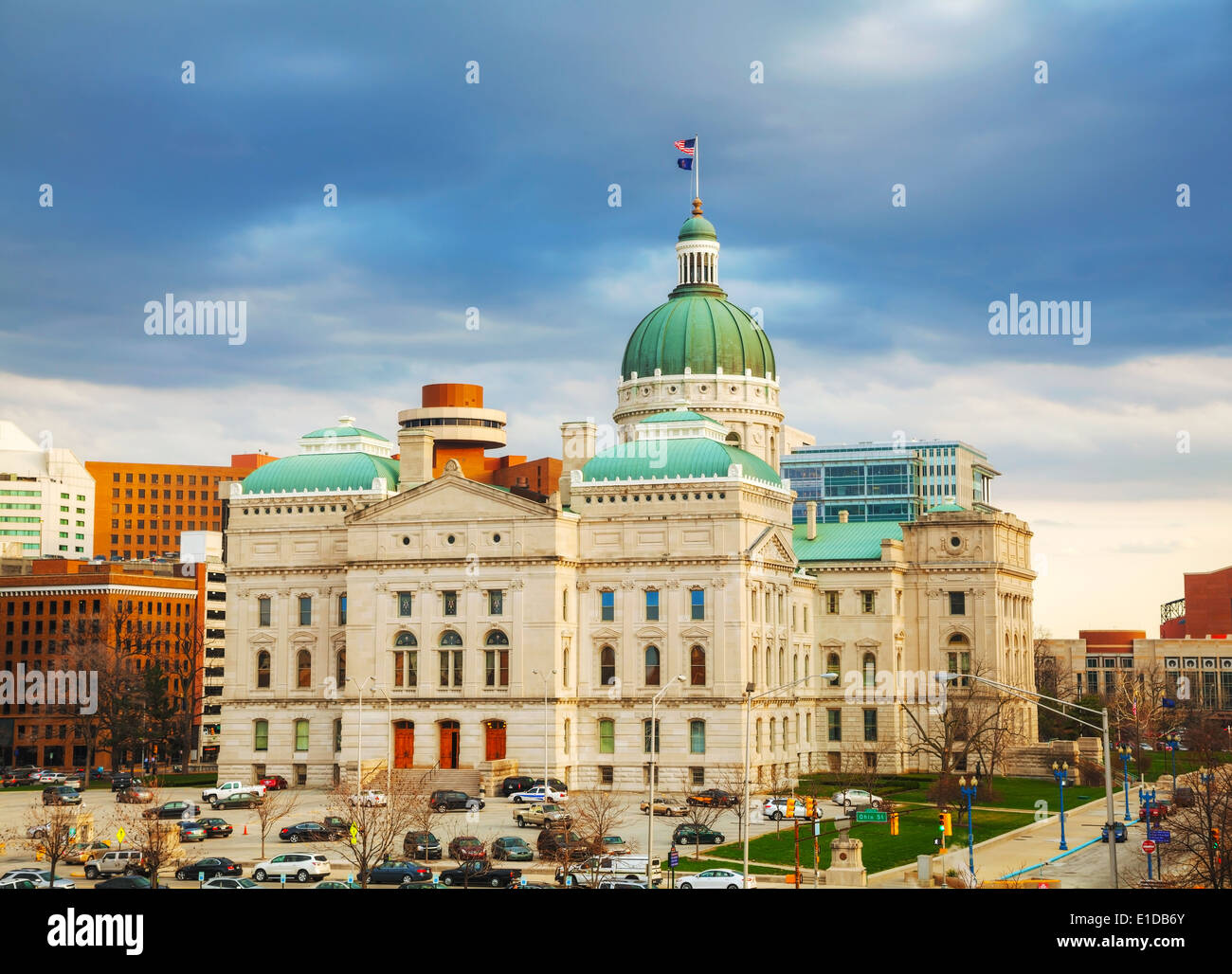 Indiana state capitol building in Indianapolis - Stock Image