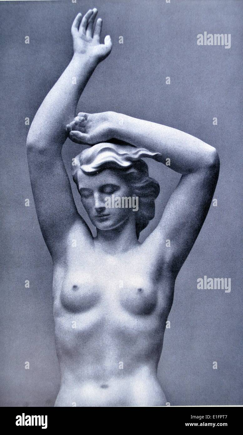 middlefigure from a fountain sculpture by Robert Ullmann 1903-1966. Austrian sculptor. published in 'Die Kunst - Stock Image