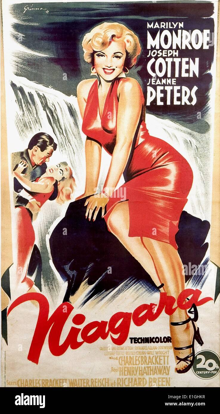 'Niagare' a 1953 thriller film noir starring Marilyn Monroe. - Stock Image