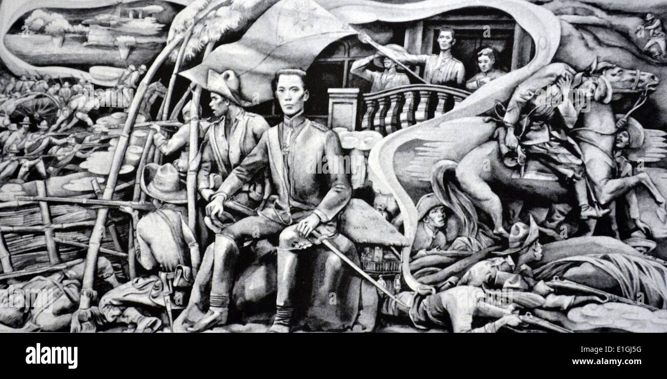 Carlos V. Francisco, The Battle of Tirad Pass, 1964, Watercolour. - Stock Image