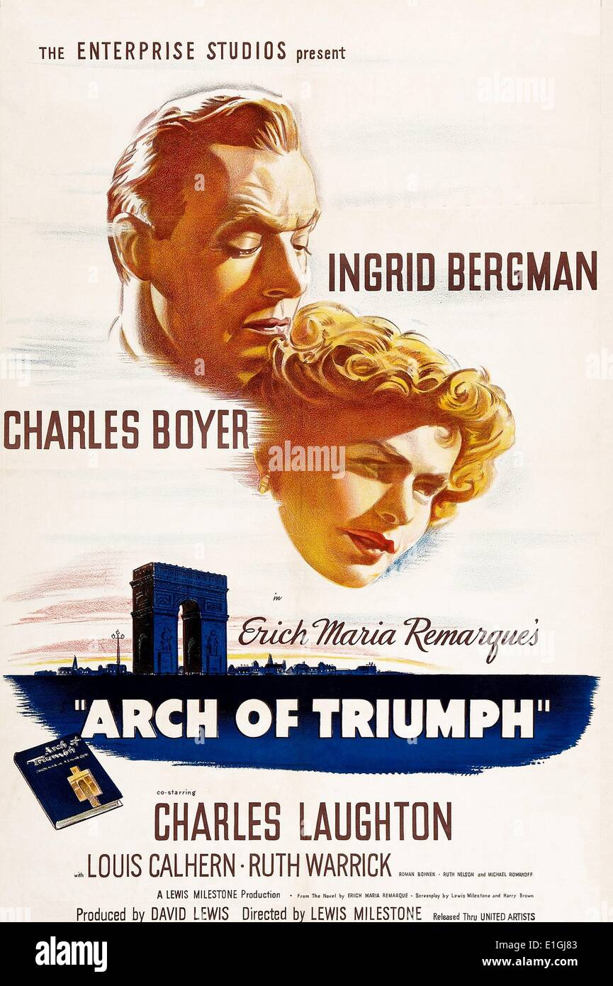 'Arch of Triumph' a 1960 American historical epic film about the 1836 Battle of the Alamo directed by and - Stock Image
