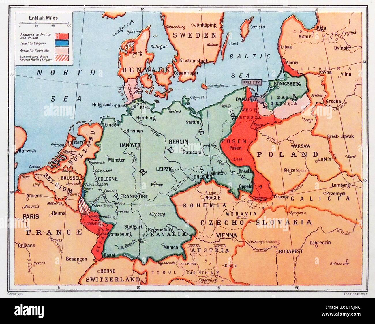 Map Of Germany 1870.Map Of Prussia In Germany Circa 1870 Stock Photo 69822072 Alamy