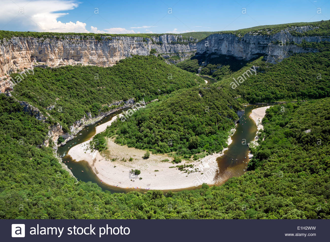 gorges-de-lardche-in-france-E1H2WW.jpg