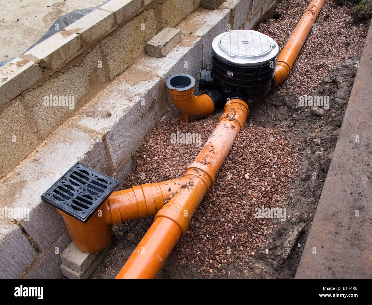 Self Building House Drainage Drain Pipe Connection To