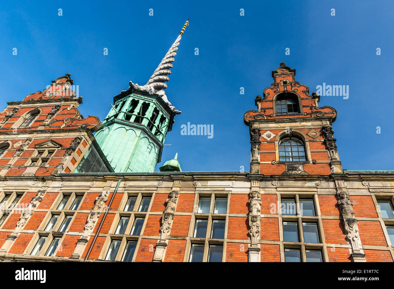 Building of the Chamber of Commerce, Børsen, Copenhagen, Denmark - Stock Image