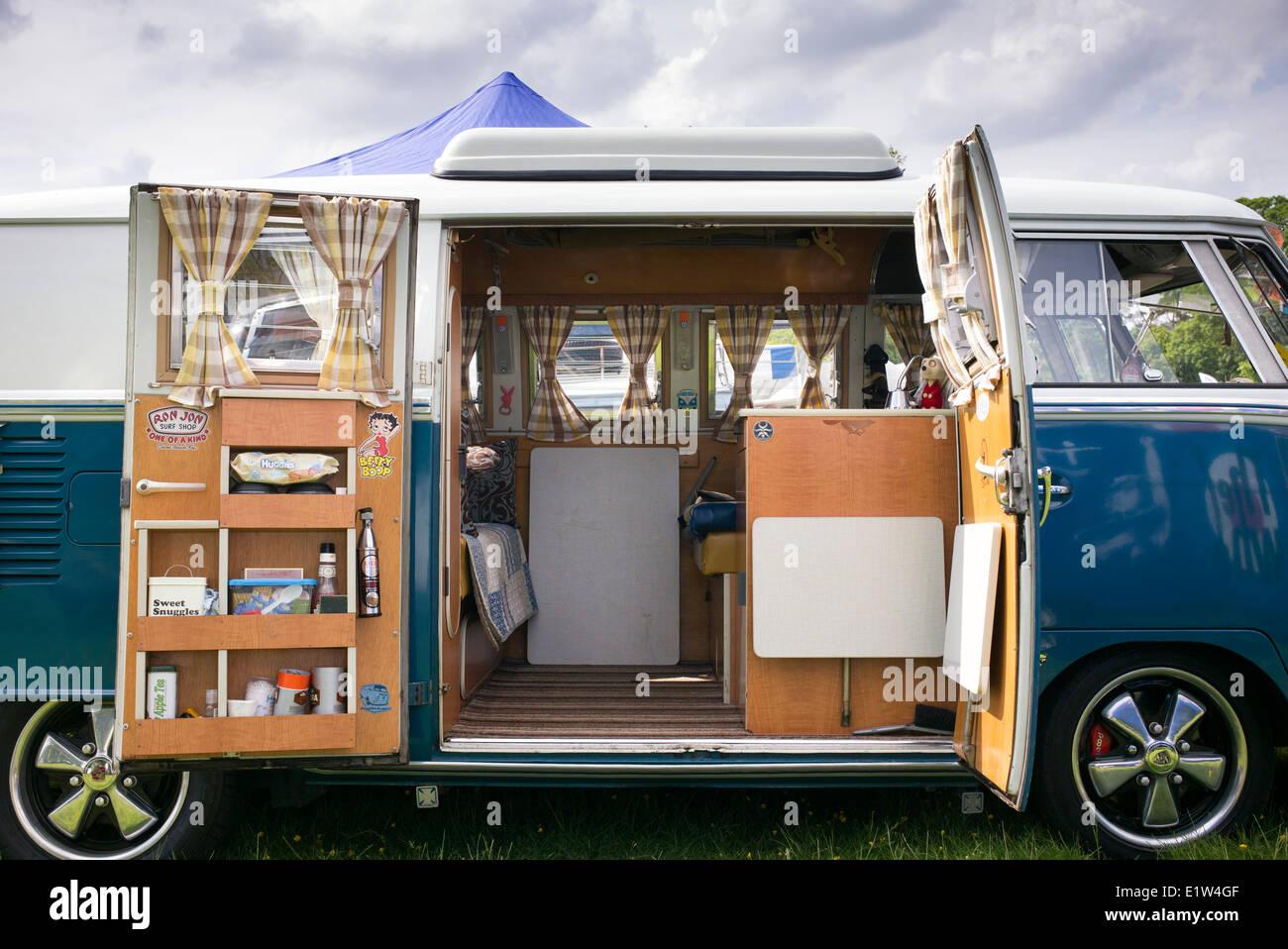 Interesting Vw Split Screen Volkswagen Camper Van Interior At A Show England With