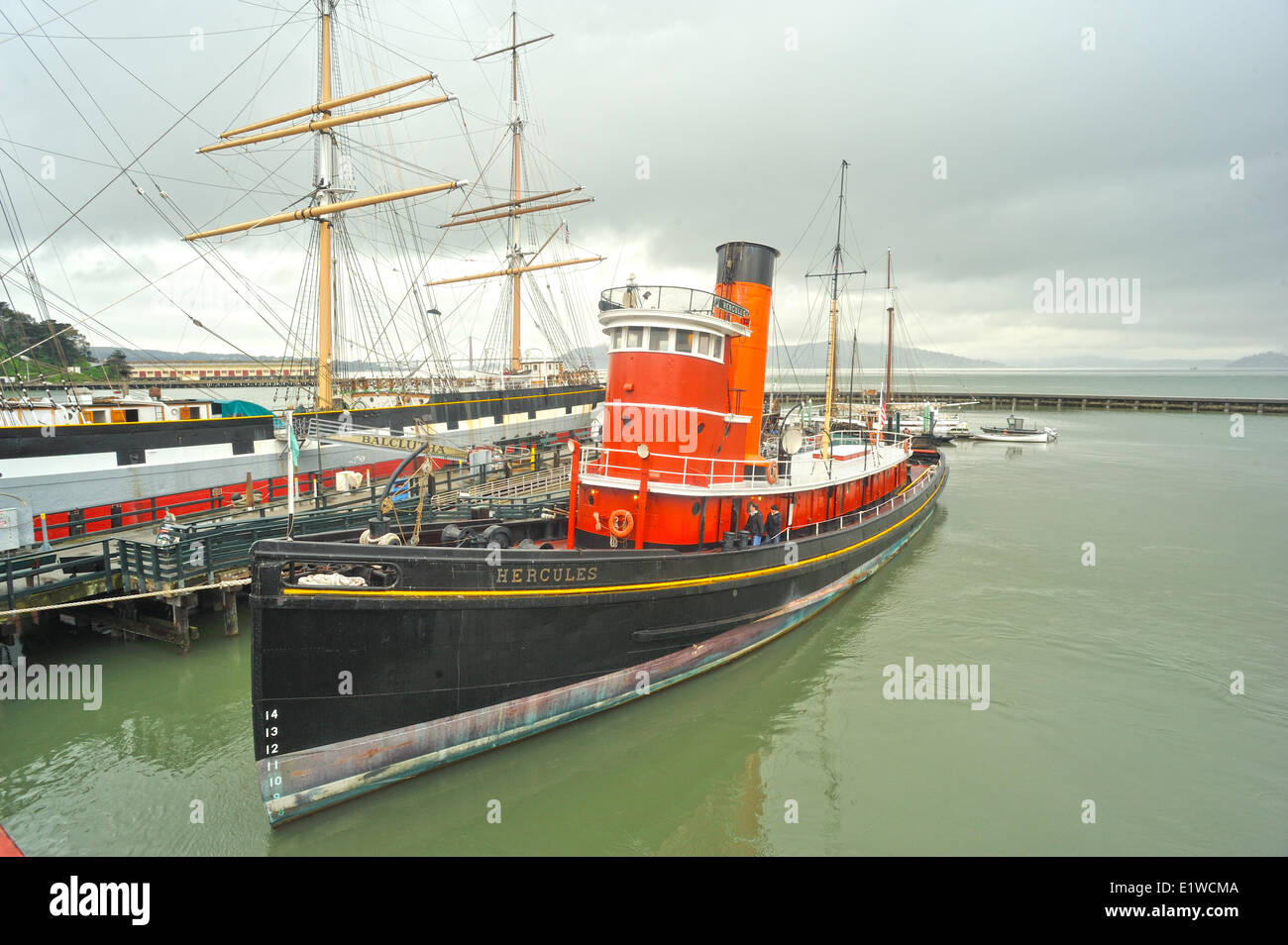 historic tug 'Hercules', maritime museum, San Francisco, California, USA - Stock Image