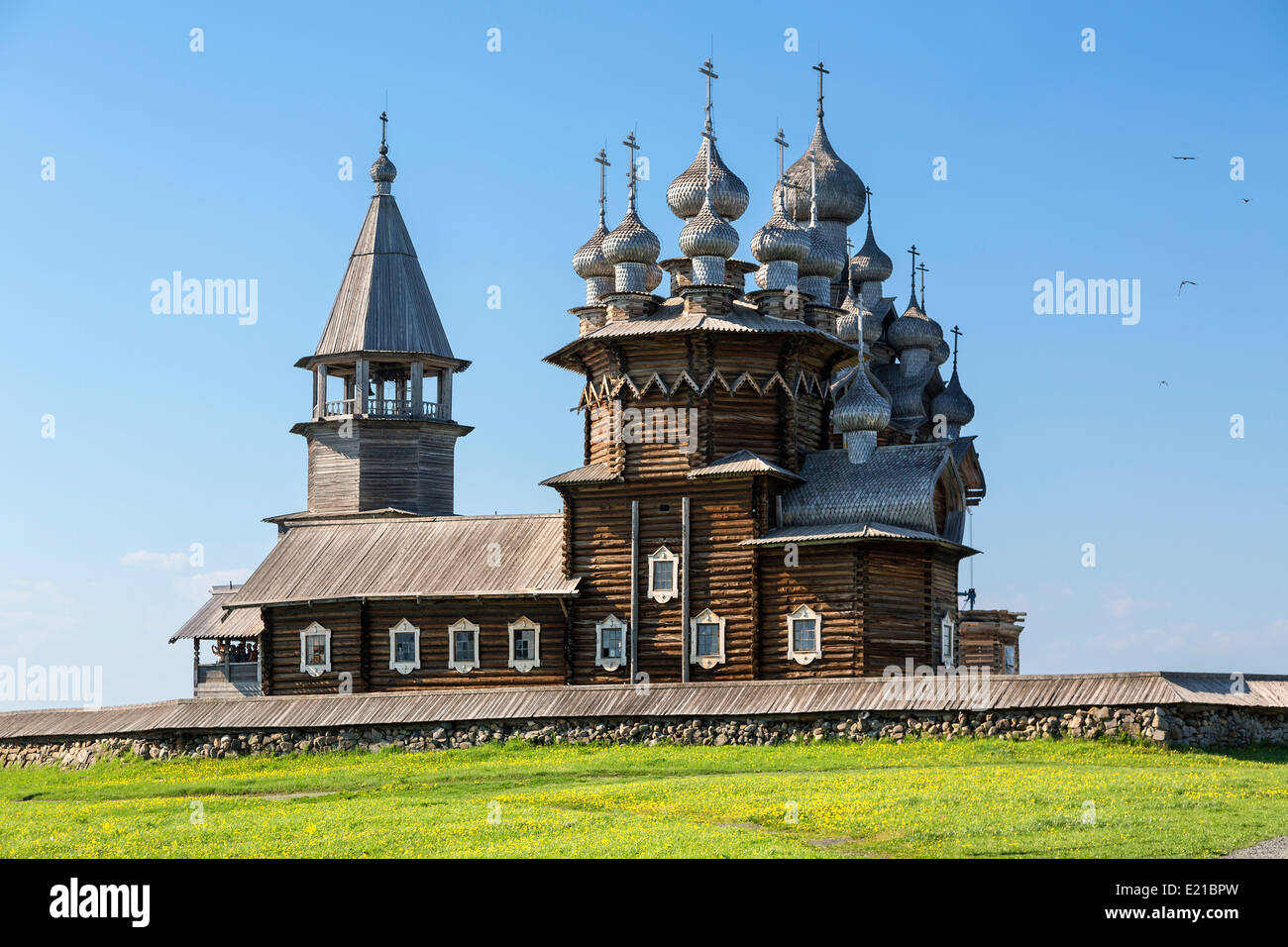Russia,  Karelia Kizhi Island, Cathedral of the Transfiguration - Stock Image