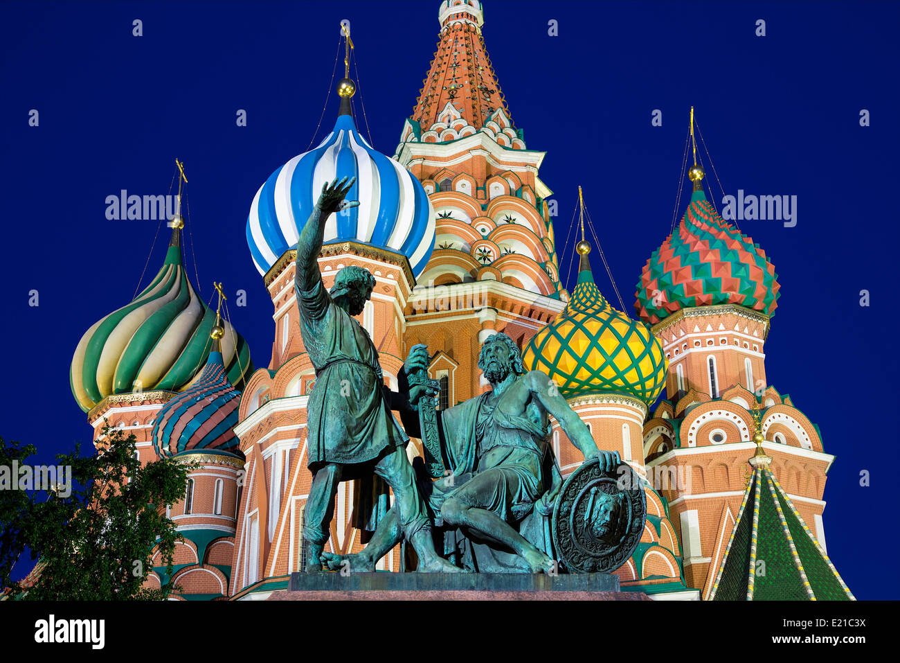 Russia St. Basil's Cathedral in Moscow - Stock Image