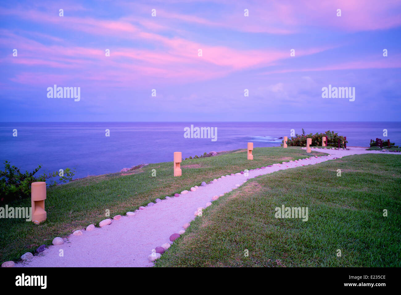 Path at Four Seasons Resort. Punta Mita, Mexico. - Stock Image