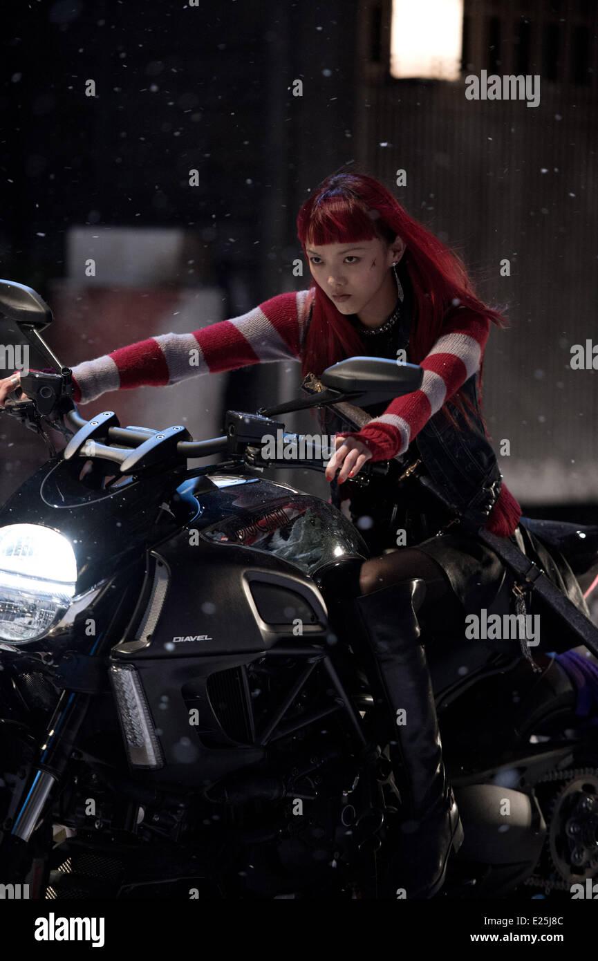 Rila Fukushima in film 'Wolverine : le combat de l'immortel' - (The Wolverine) - 2013  Featuring: Rila - Stock Image
