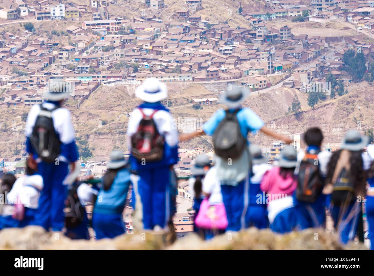 Perù,Cuzco,Urban scenes - Stock Image