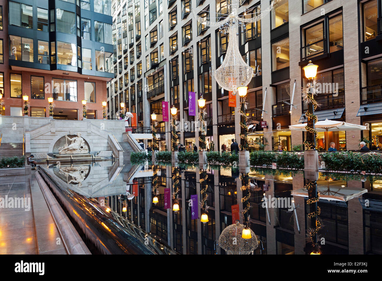 Canada Quebec province Montreal the Underground City the Ruelle des Fortifications in the atrium of the World Trade - Stock Image
