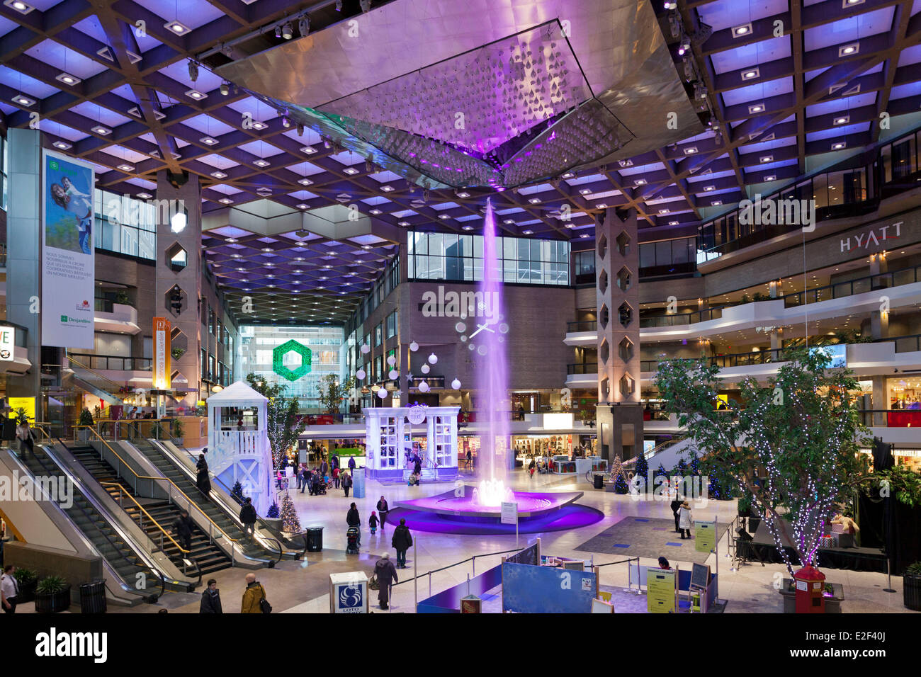 Canada, Quebec province, Montreal, the Underground City, the commercial center Complexe Desjardins - Stock Image