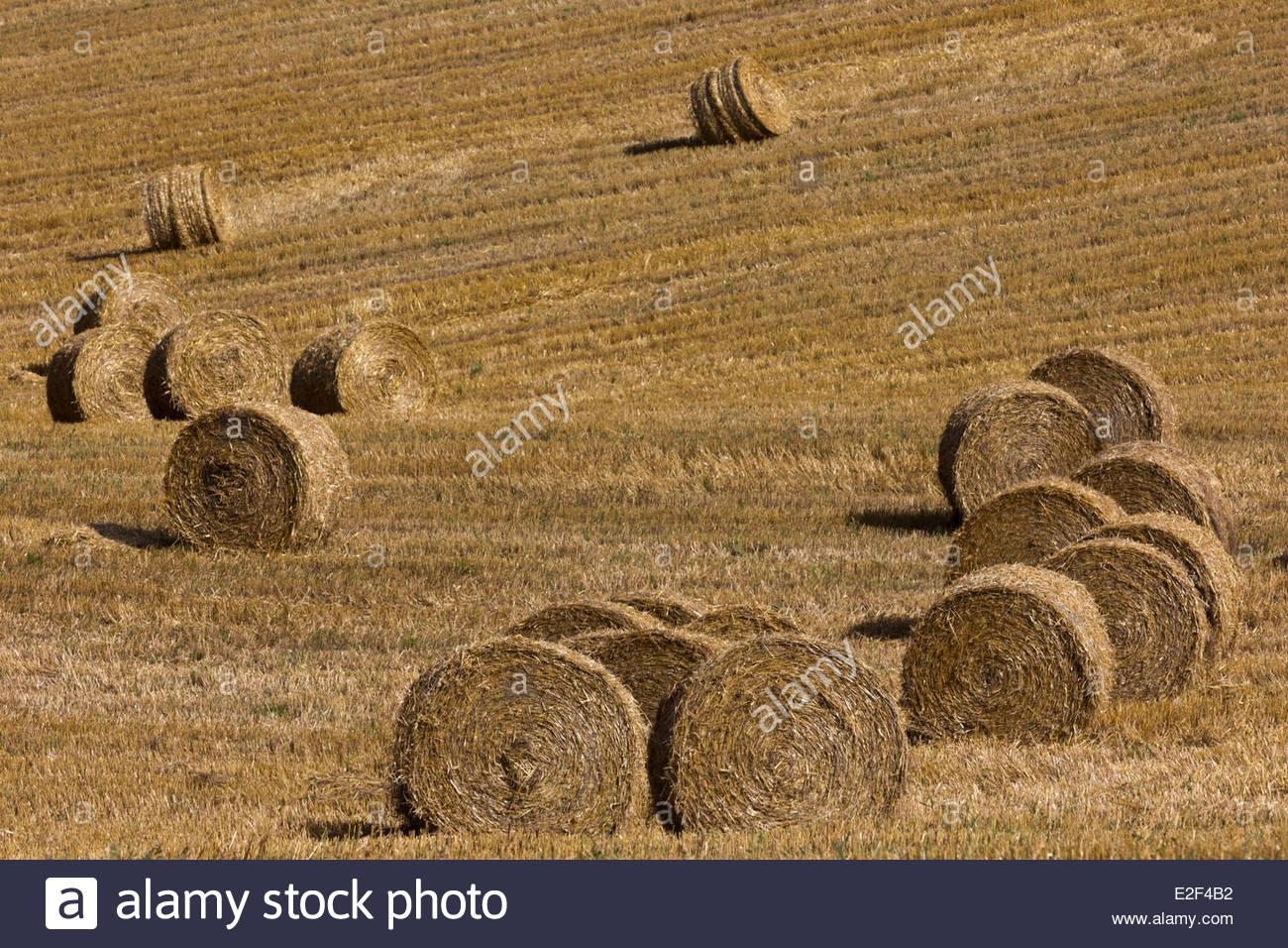 France, Tarn Et Garonne, Near Moissac, On The Hillside Moissac After  Harvest,