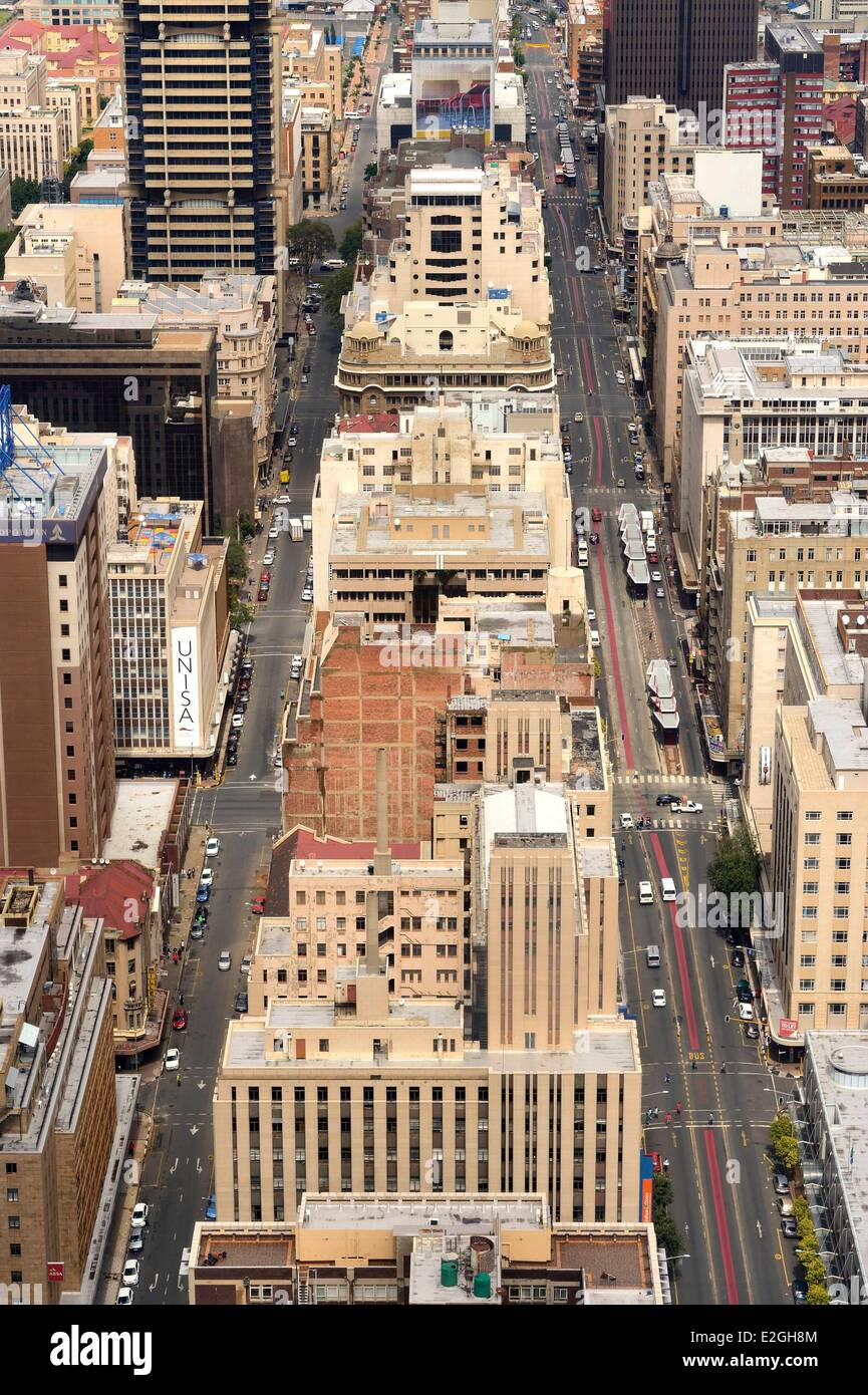 South Africa Gauteng province Johannesburg CBD (Central Business District) downtown view Carlton Center tower Commissioner - Stock Image