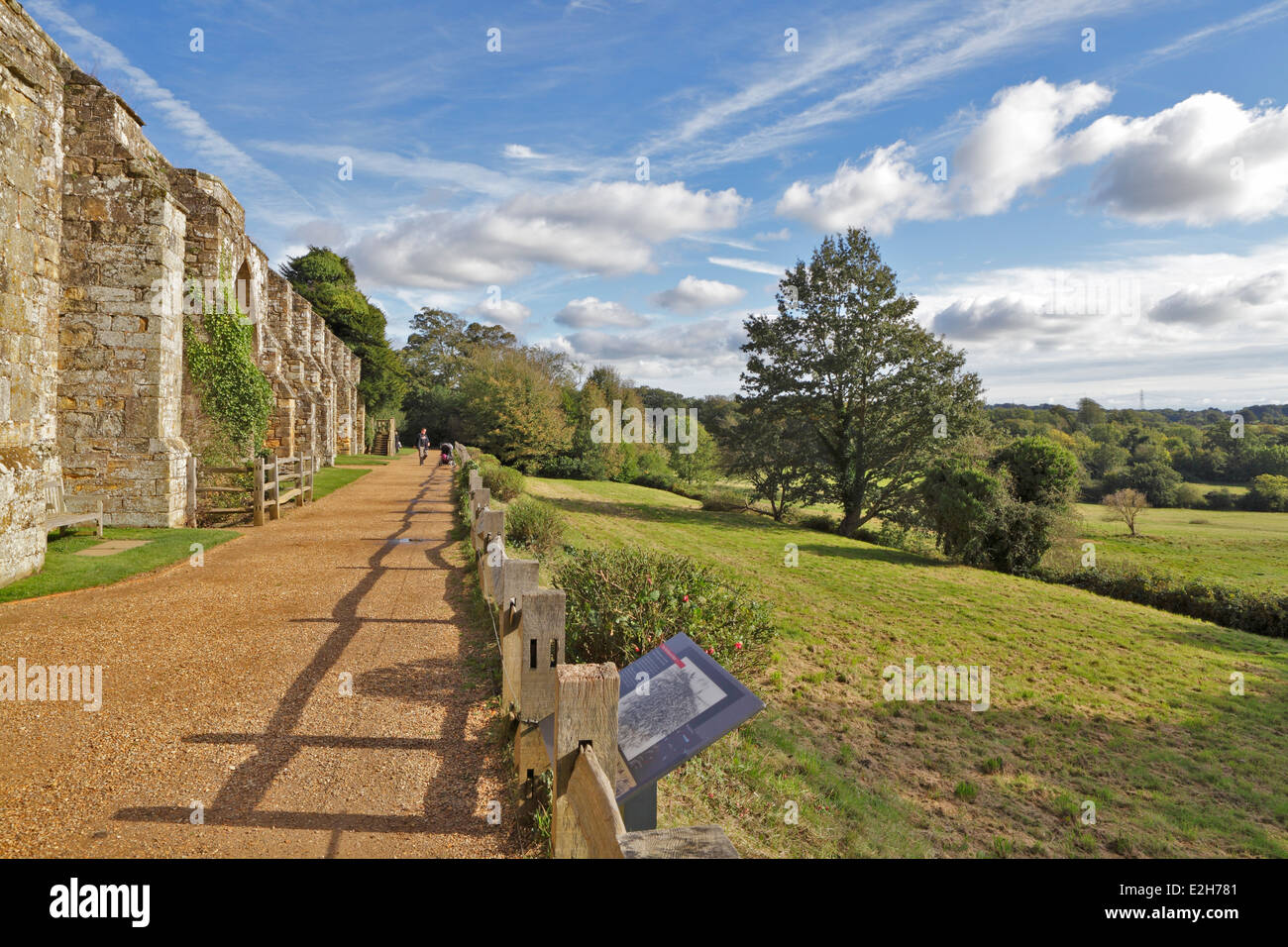 Battle Abbey. The battlefield site where in1066 William conquered Harold in the Battle of Hastings,  East Sussex, - Stock Image