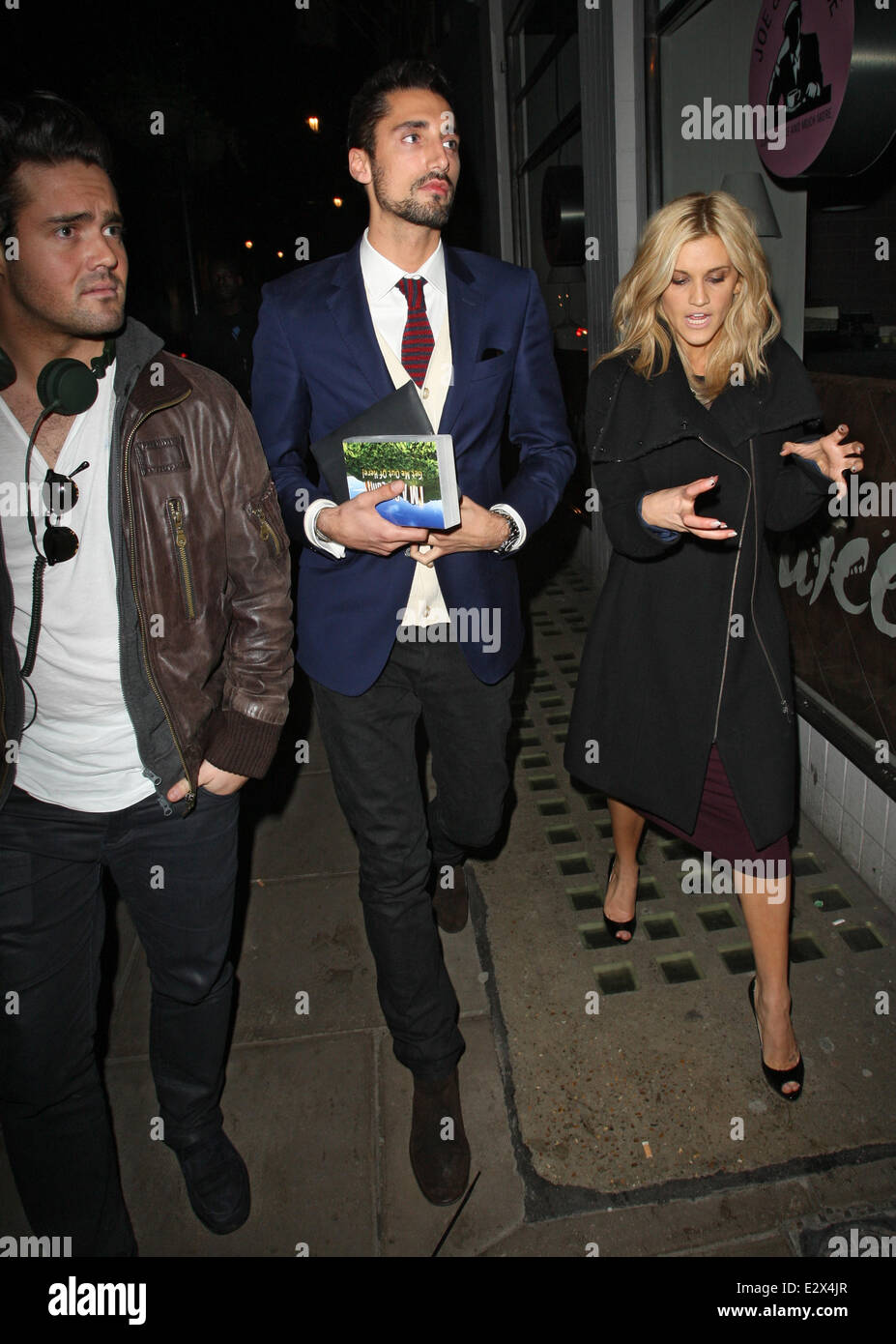 Celebrities at the Groucho club  Featuring: Hugo Taylor,Ashley Roberts Where: London, United Kingdom When: 19 Mar - Stock Image