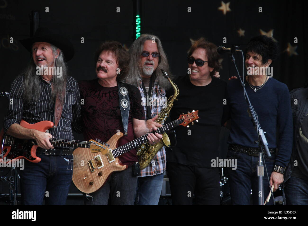 The Doobie Brothers perform as part of the  Fox and Friends' All-American Summer Concert Series  Featuring: The Stock Photo