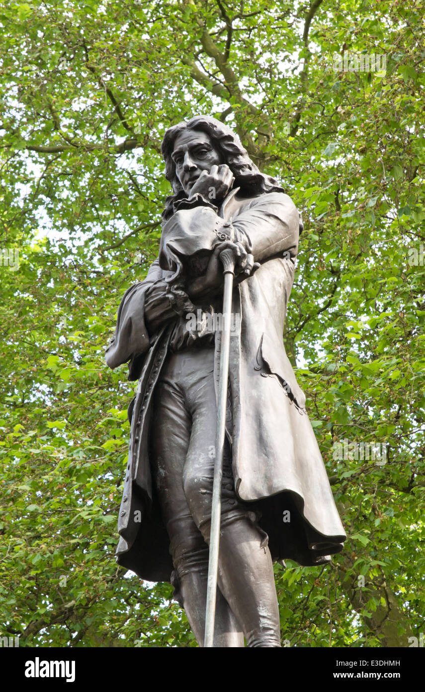 Views of Bristol that refer to Edward Colston, Philanthropist, Merchant and Slave Trader. Statue of Colston in Bristol Stock Photo