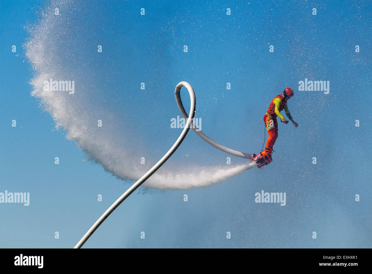 male-flyboarder-at-the-north-american-flyboard-championships-in-toronto-E3HXK1.jpg