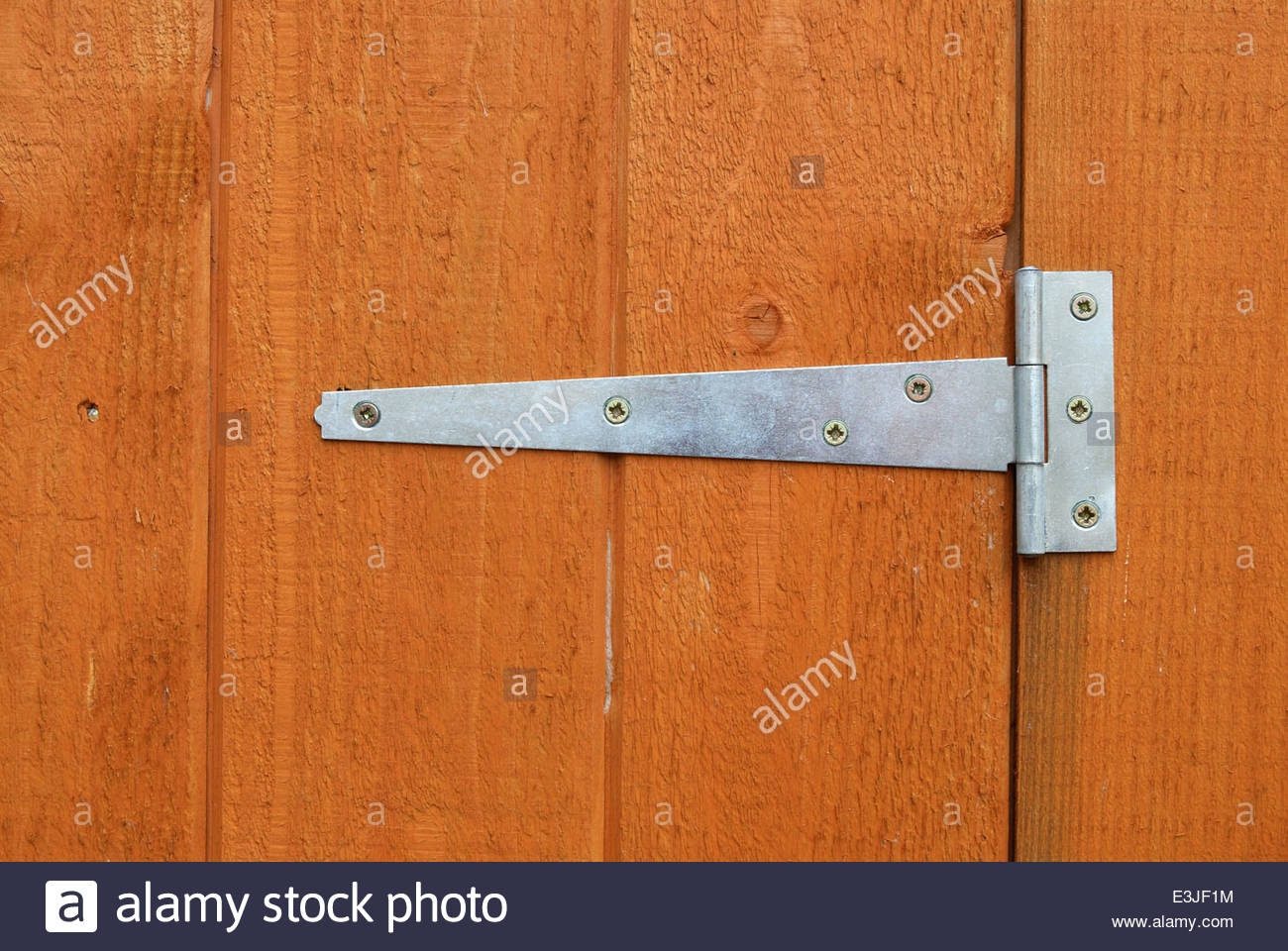 Superbe Close Up Of A Hinge Fitted To A Shed Door
