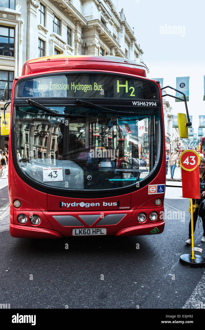 Regent Street, London, UK, 22nd June 2014. 2014 is the Year of the Bus: to celebrate this, Regent Street became - Stock Image