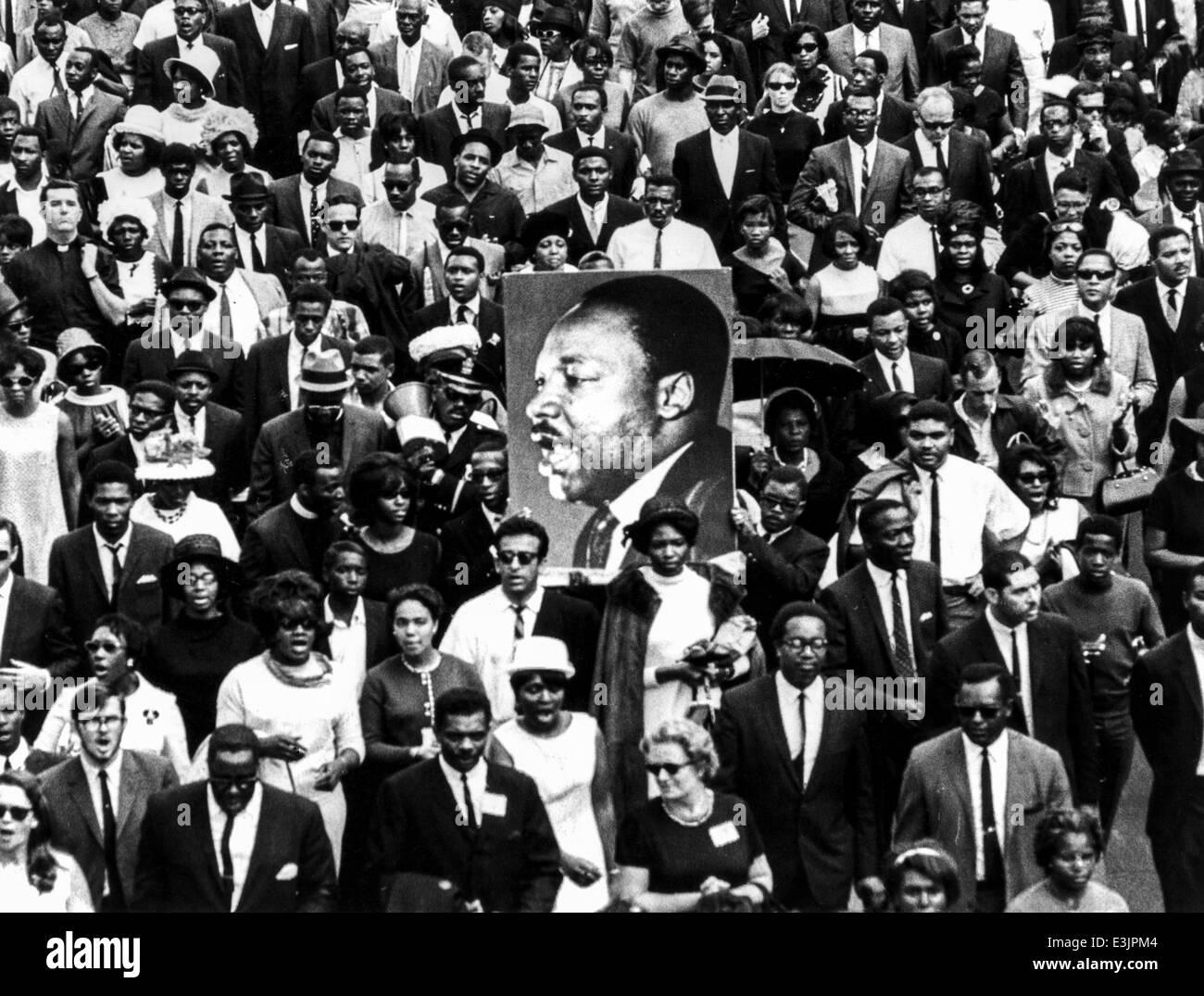martin luther king's funeral,Atlanta, Georgia April 9, 1968 - Stock Image