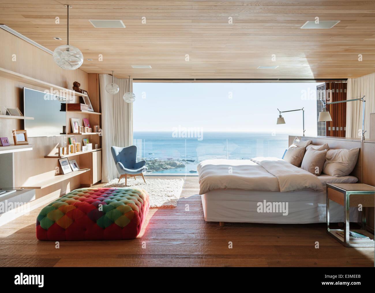 Sunny Bedroom With Ocean View Stock Photo 71135859 Alamy