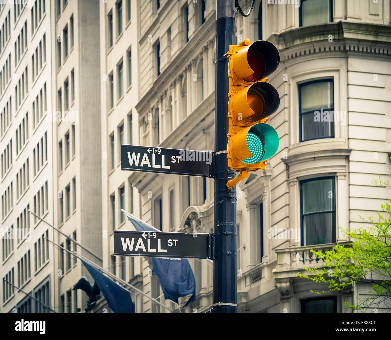 Wall street, New York - Stock Image