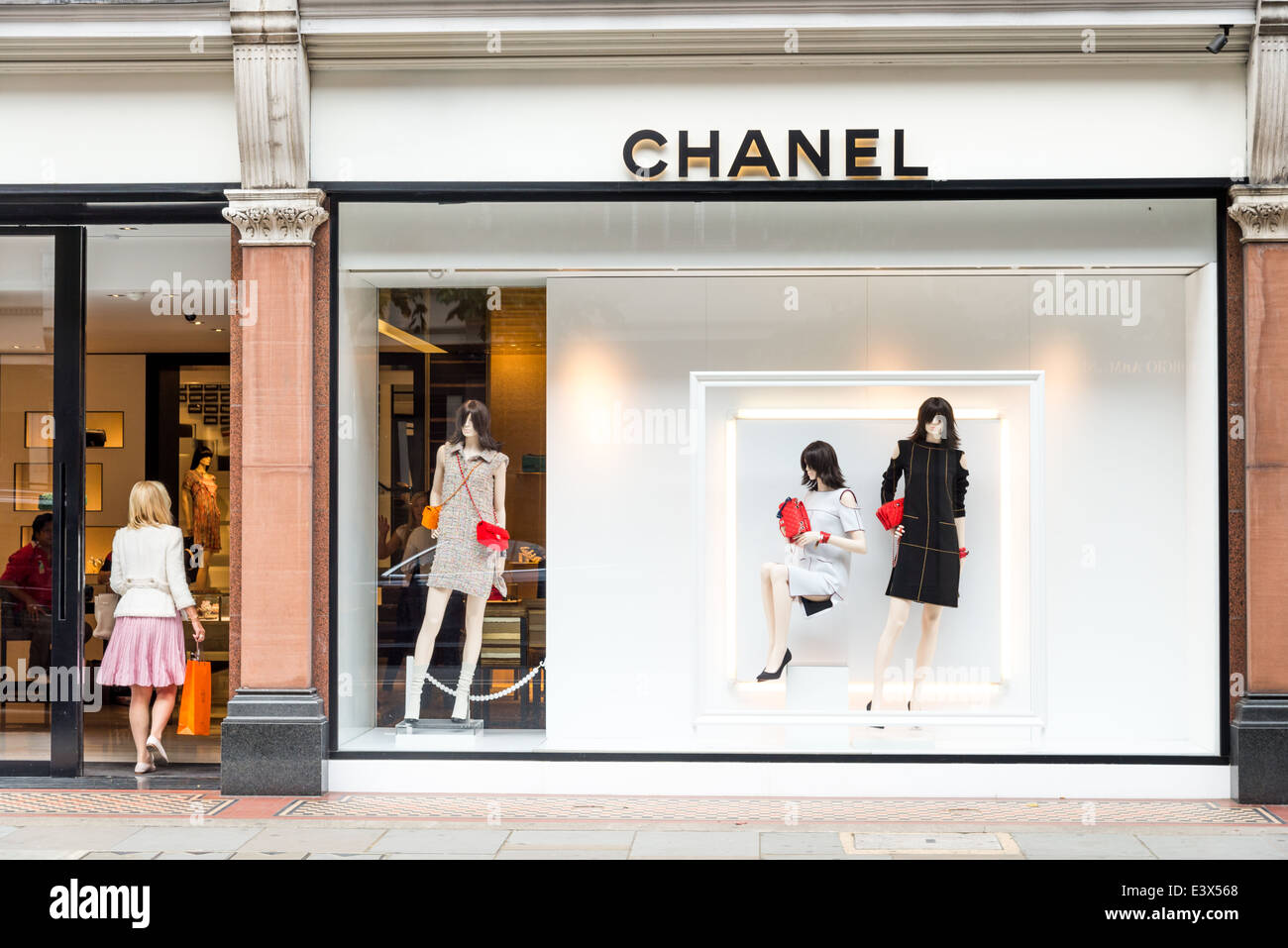 Chanel luxury designer clothes shop on Sloane Street, London Stock ...