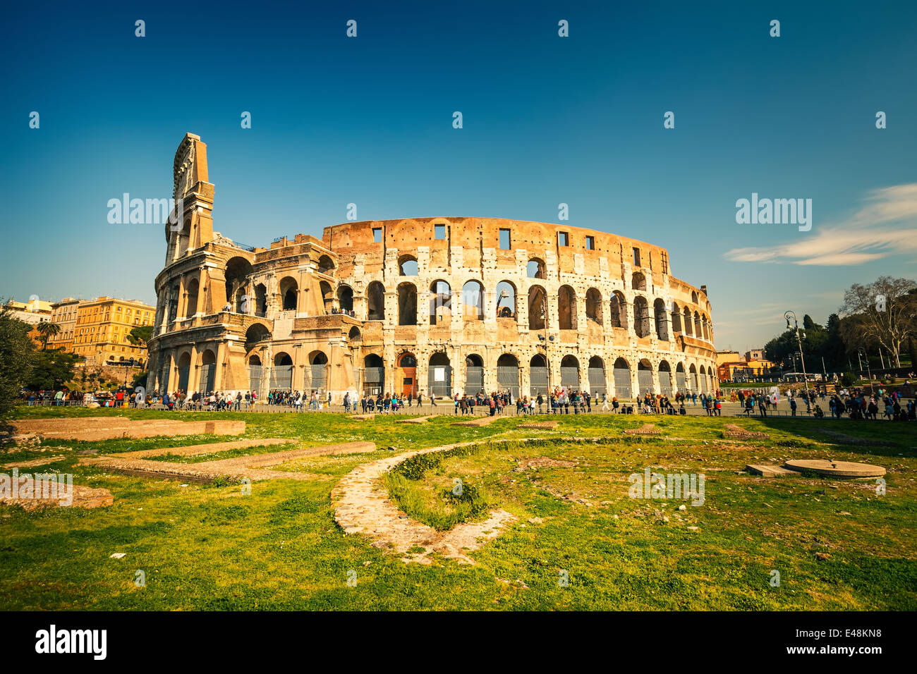 Coliseum in Rome - Stock Image