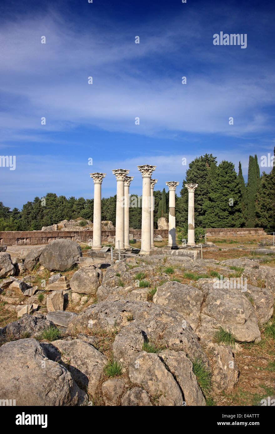 Roman temple at the archaeological site of the Asklepieion, Kos island, Dodecanese, Aegean sea, Greece. - Stock Image