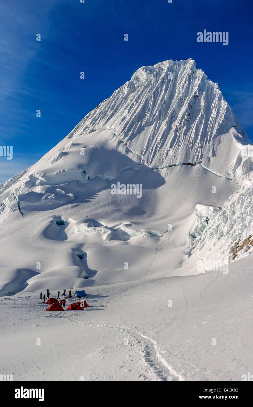 Nevado Alpamayo Stock Photo