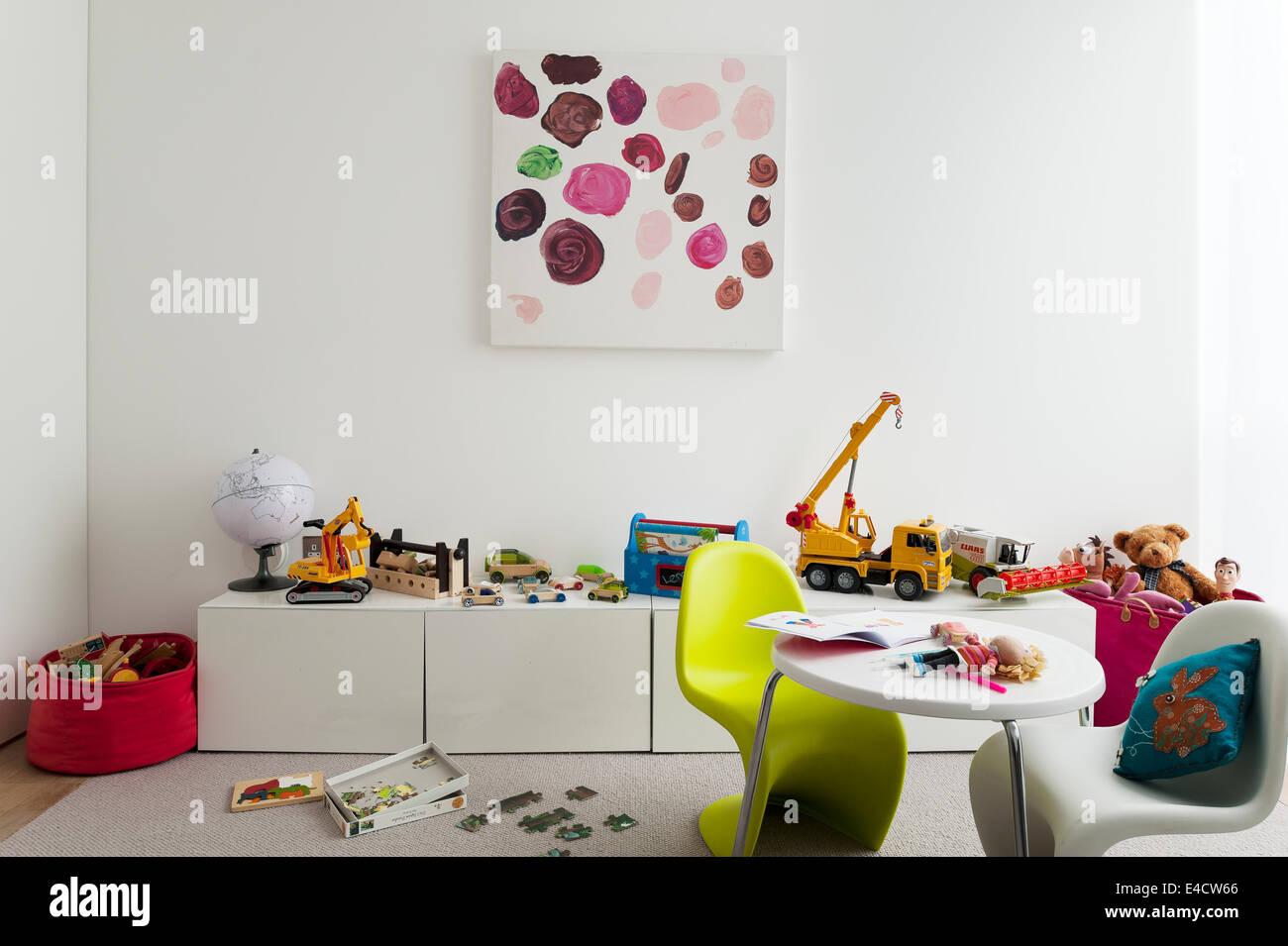Verner Panton S Chairs In Kids Playroom